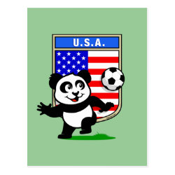 Postcard with USA Soccer Panda design