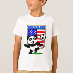 Kids' Hanes TAGLESS® T-Shirt with USA Soccer Panda design