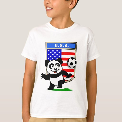 USA Soccer Panda T-Shirt