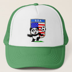 Trucker Hat with USA Soccer Panda design