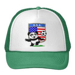 Trucker Hat with USA Soccer Panda design