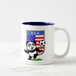 Two-Tone Mug with USA Soccer Panda design