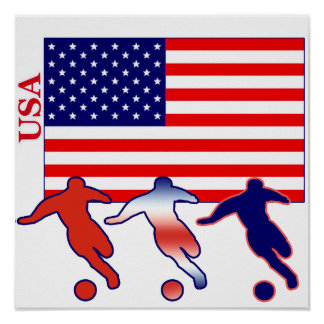 USA Soccer Players Poster