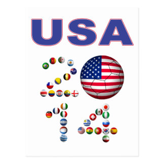 USA Soccer Postcard