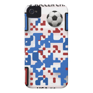 USA--Soccer-QR-Code iPhone 4 Cover