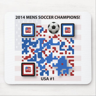 USA--Soccer-QR-Code Mouse Pad