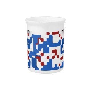 USA--Soccer-QR-Code Drink Pitcher