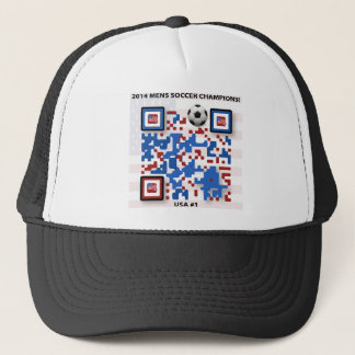 USA--Soccer-QR-Code Trucker Hat