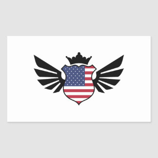 USA soccer Rectangular Sticker