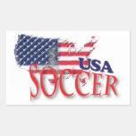 USA Soccer Sticker Rectangular Sticker
