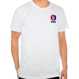 USA Soccer Swirl design Tee Shirt