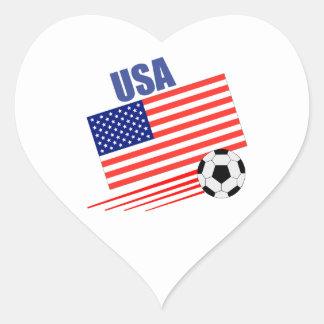 USA Soccer Team Heart Sticker