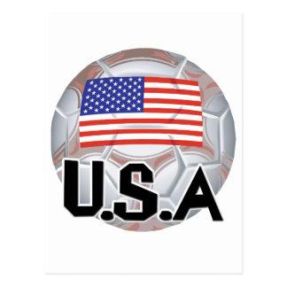 USA Soccer Team Postcard