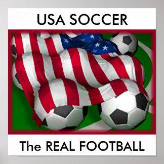 USA SOCCER, The REAL FOOTBALL Poster