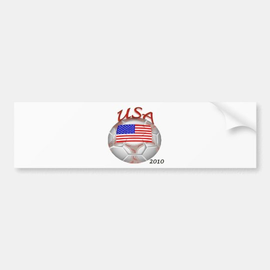 USA Soccer with 2010 Bumper Sticker