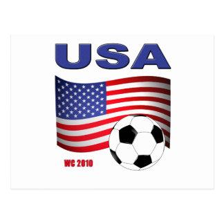 USA Soccer World Cup 2010 Postcard