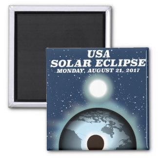 USA Solar Eclipse 2017 vintage poster Magnet
