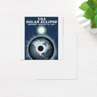 USA Themed USA Solar Eclipse 2017 vintage poster Square Business Card