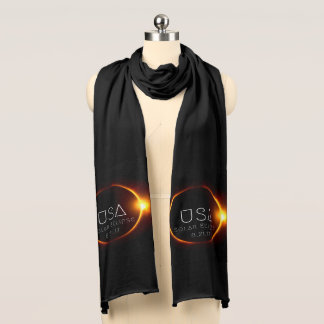 USA Solar Eclipse Scarf