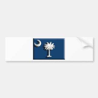 USA: South Carolina (artist flag) Bumper Sticker