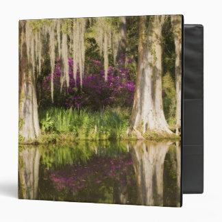 USA, South Carolina, Charleston. Cypress Trees 3 Ring Binder
