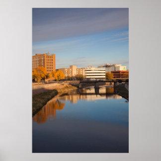 USA, South Dakota, Sioux Falls, City Skyline Poster