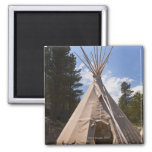 USA, South Dakota, Traditional Indian teepee 2 Inch Square Magnet