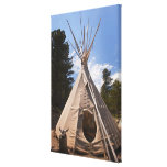 USA, South Dakota, Traditional Indian teepee Stretched Canvas Print