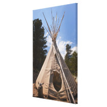 USA, South Dakota, Traditional Indian teepee Canvas Print