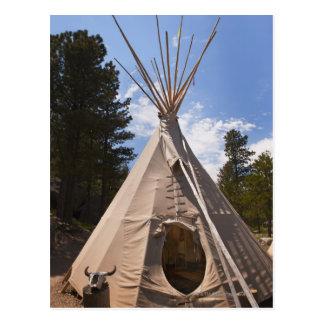 USA, South Dakota, Traditional Indian teepee Postcards