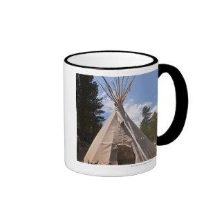 USA, South Dakota, Traditional Indian teepee Ringer Mug