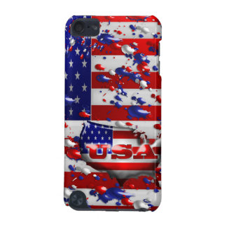 USA Splattered American Flag Ipod Touch Case