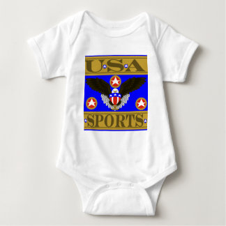 USA Sports Blue.png Baby Bodysuit