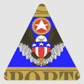 USA Sports Blue.png Triangle Sticker