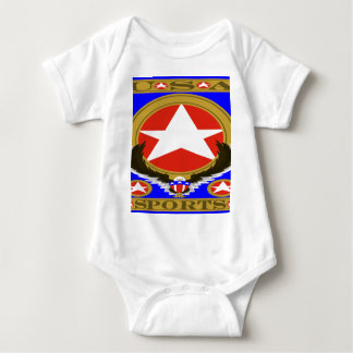 USA Sports Blue template.png Baby Bodysuit