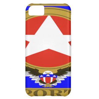 USA Sports Blue template.png iPhone 5C Cover