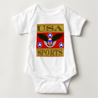 USA Sports Red.png Baby Bodysuit