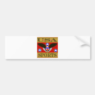 USA Sports Red.png Bumper Sticker