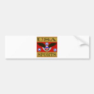 USA Sports Red.png Bumper Sticker
