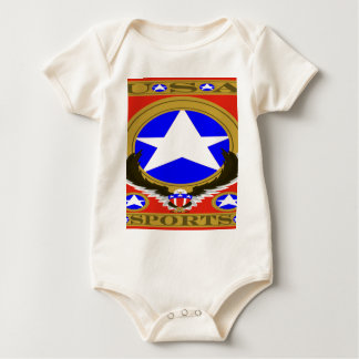 USA Sports Red template.png Baby Bodysuit