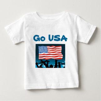 USA sports t-shirts-Go USA Baby T-Shirt