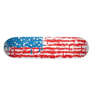 USA Spraypaint Drip Flag Skateboard