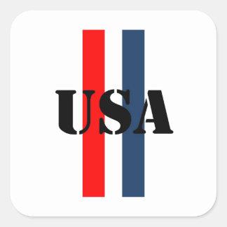 USA SQUARE STICKER