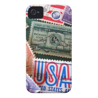 USA Stamp Collage iPhone 4/4S Case-Mate iPhone 4 Covers