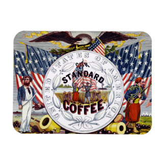 USA Standard Coffee Advert Magnet