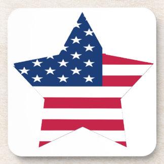 USA Star American Flag Beverage Coaster