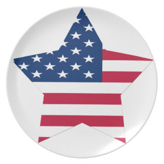 USA Star American Flag Dinner Plate
