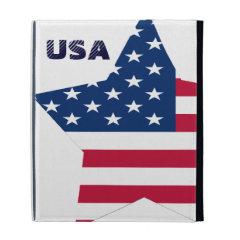 USA Star American Flag iPad Folio Cases