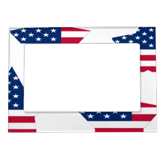 USA Star American Flag Magnetic Picture Frame