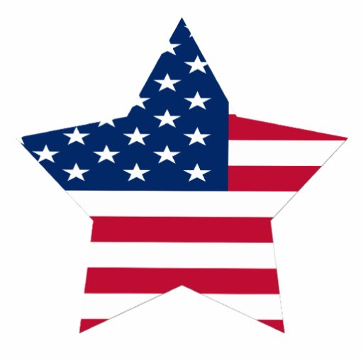 USA Star American Flag Photo Sculpture Magnet Zazzle